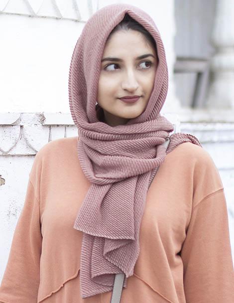 mauve hijab