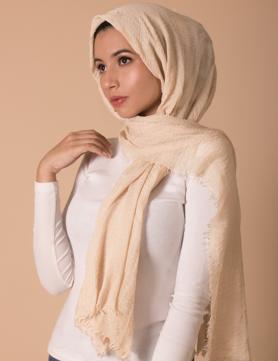 nude premium cotton hijab