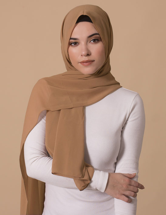 tan georgette hijab