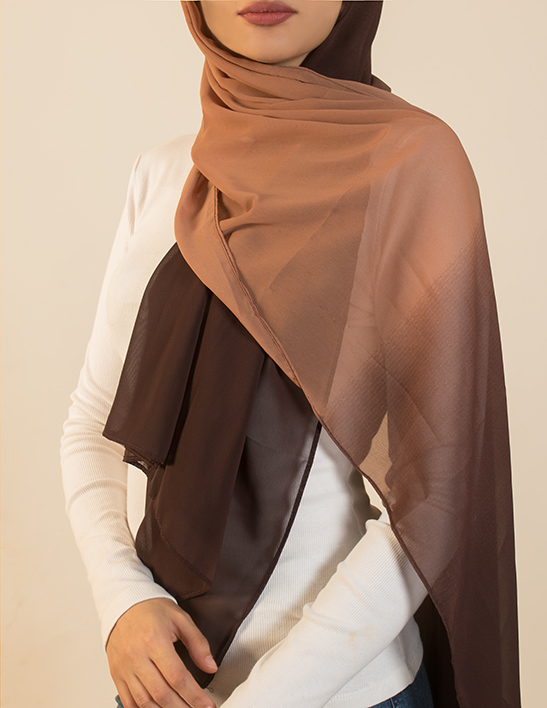 brown ombre hijab