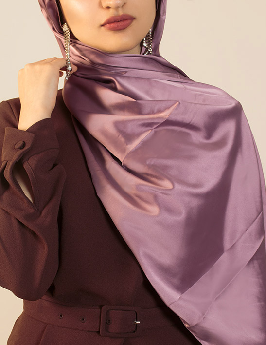 rose satin hijab
